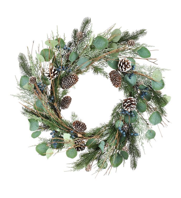 Mixed Juniper Wreath
