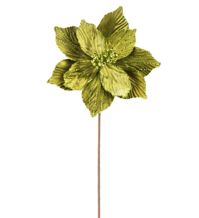 Green Velvet Magnolia Stem