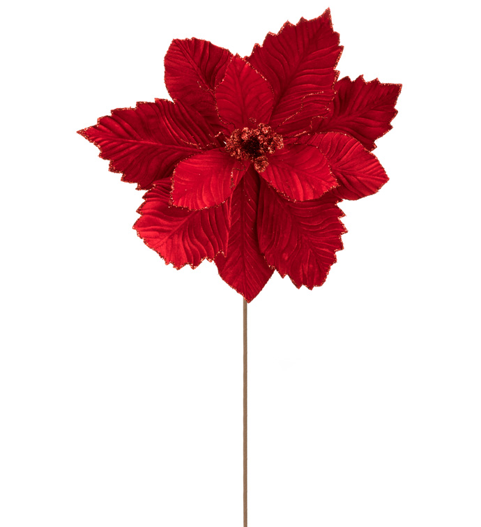 Red Velvet Poinsettia Stem