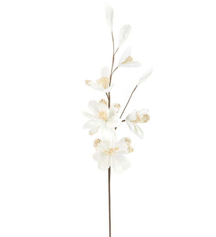 Ivory/Gold Magnolia Spray