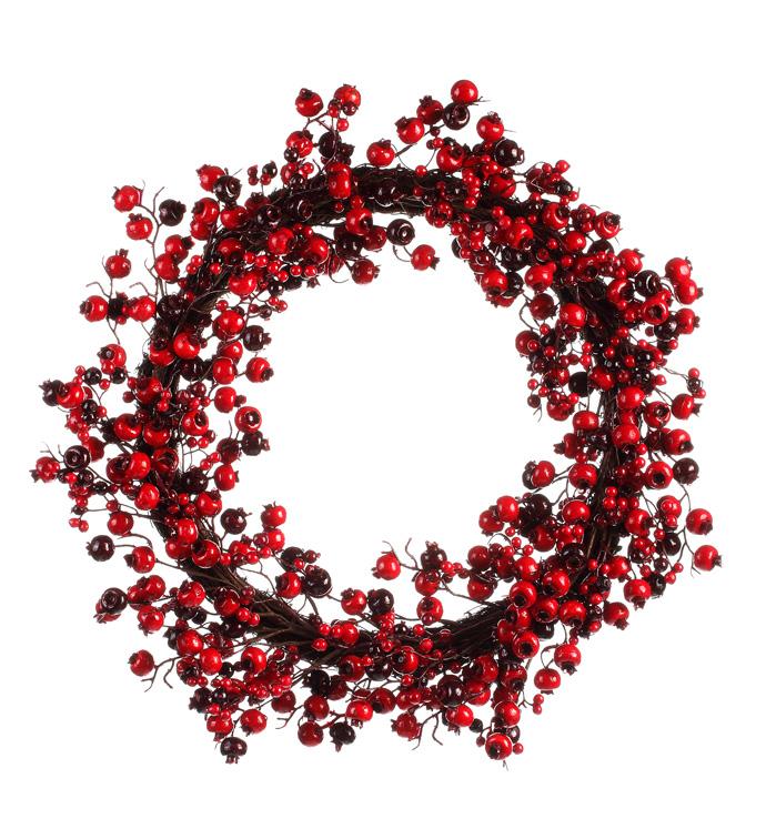 Red Crabapple Berry Wreath