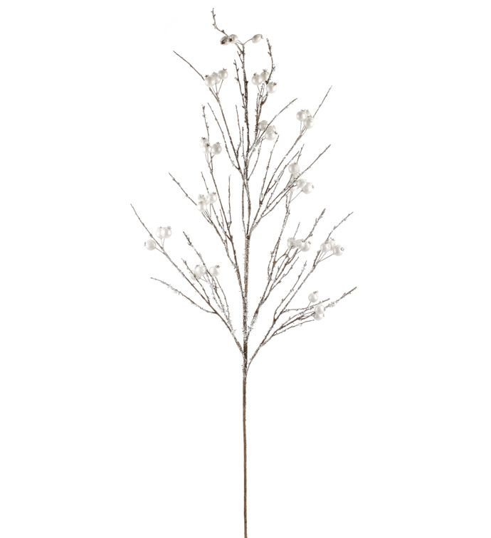 Icy Silver Pearl Berry Branch