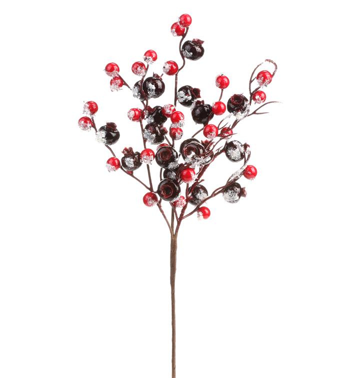 Burgundy/Red Frost Crabapple Pick