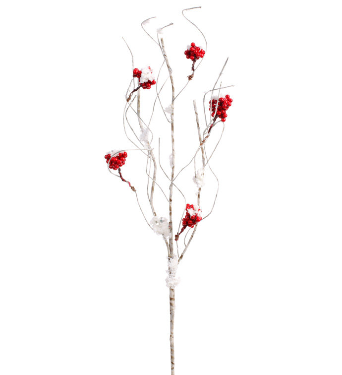 Red Snow Berry Twig Pick