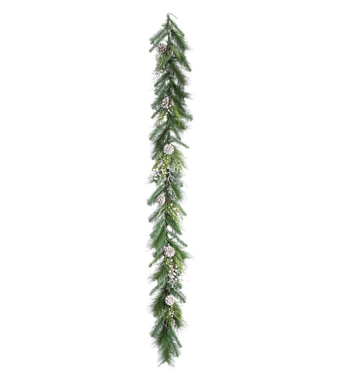 White Juniper Pine/Berry Garland