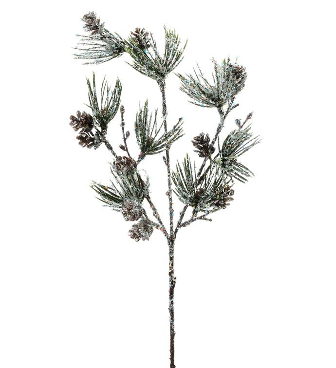Laser Glitter Pine Cone Pick