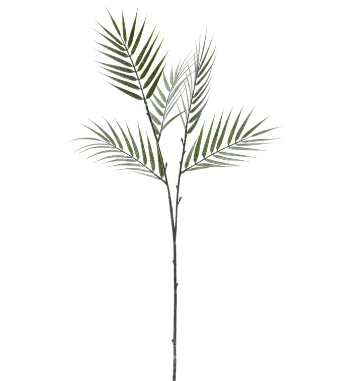 Frosted Bamboo Leaf Spray