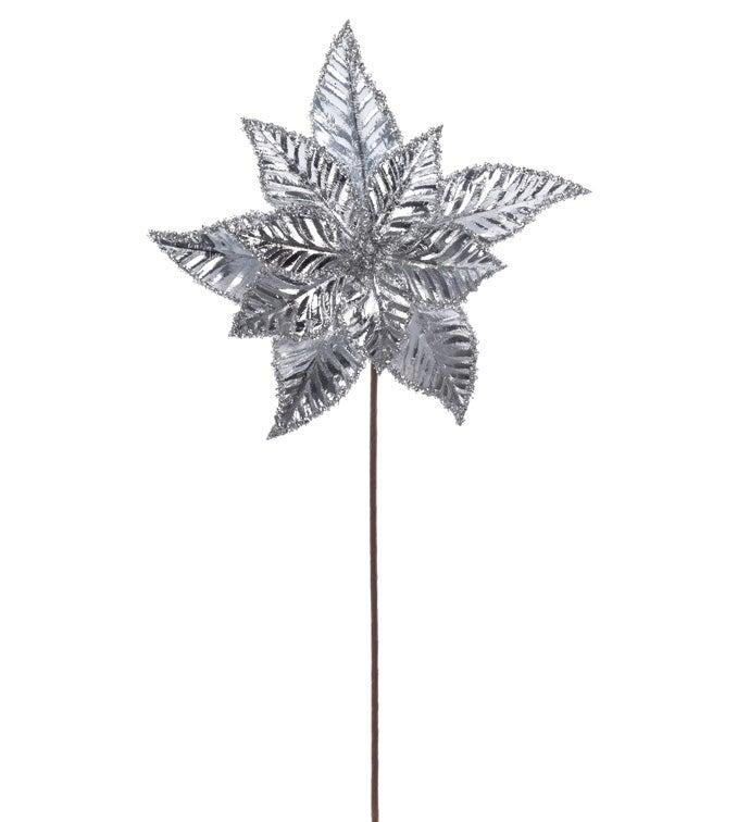 Shiny Silver Poinsettia