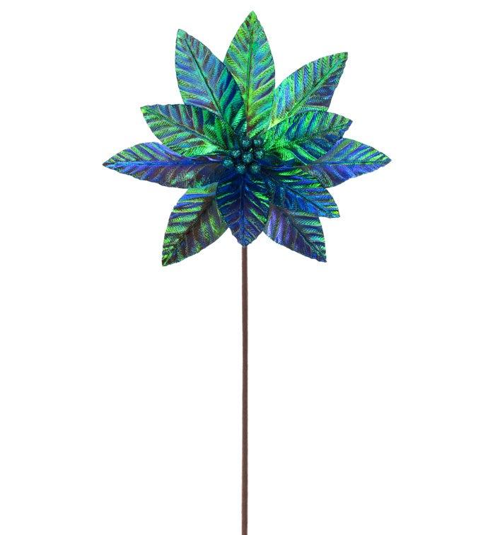 Green Iridescent Poinsettia