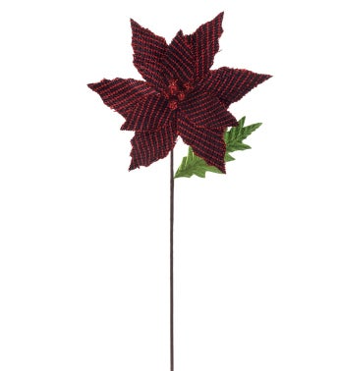 Red/Black Tweed Poinsettia