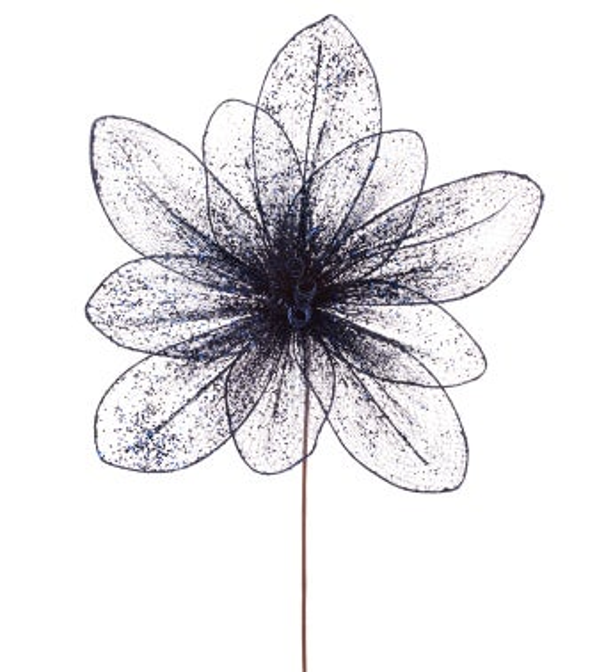 Extra Large Navy Poinsettia