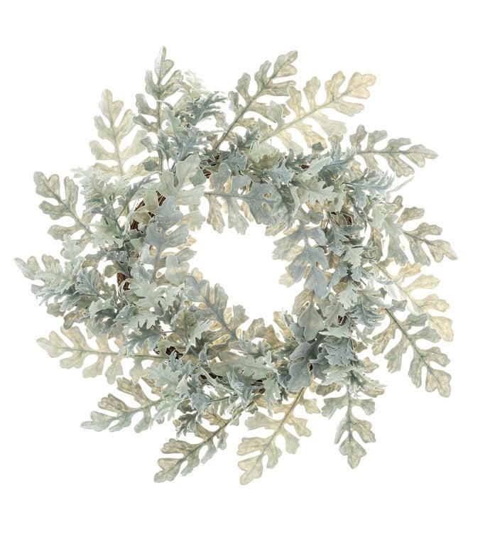 Shimmer Dusty Miller Wreath