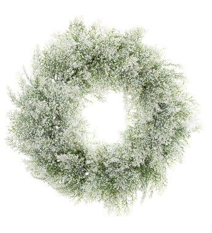 Glitter Bubble Cedar Wreath
