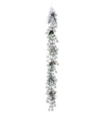 Frosted Laurel Pine Garland