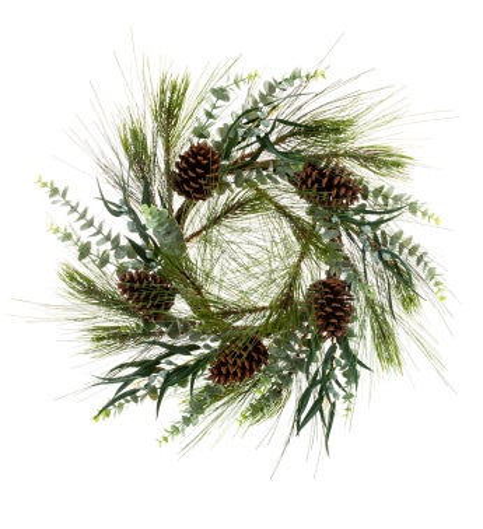 Eucalyptus Pine Cone Wreath