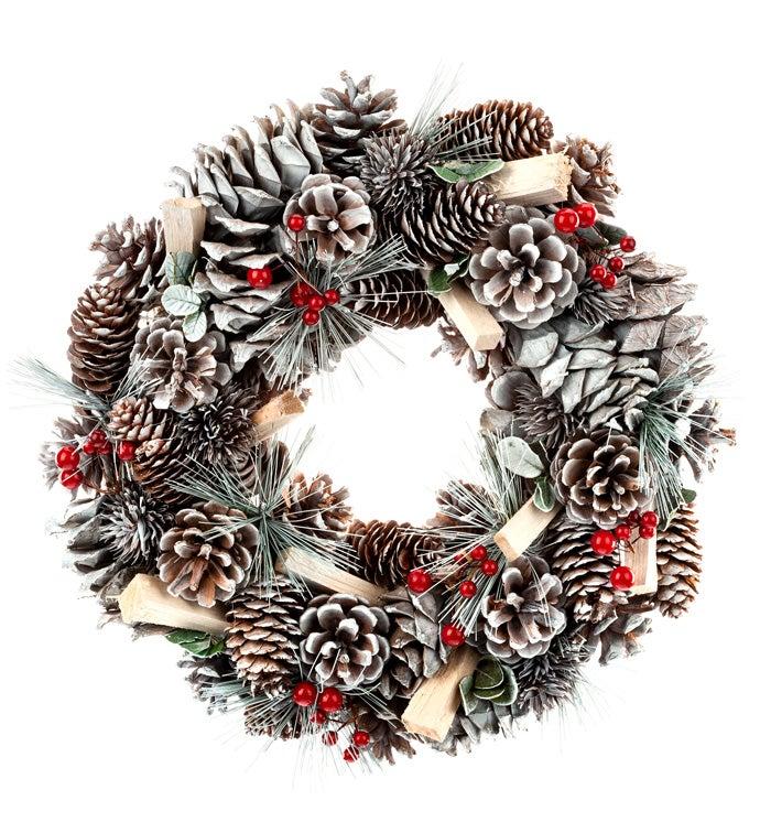 Snow Pine Berry Wreath