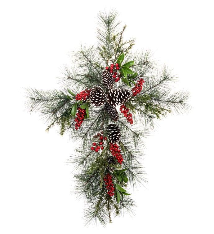Pine & Cones Cross