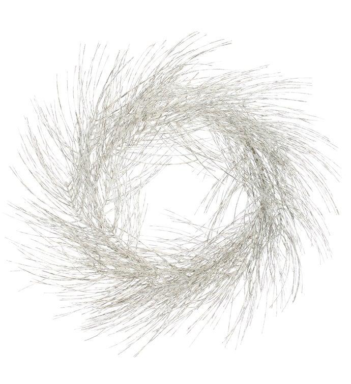 Platinum Glitter Pine Wreath