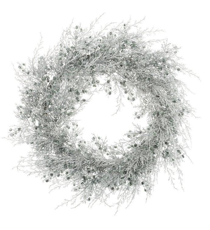 Silver Juniper Wreath
