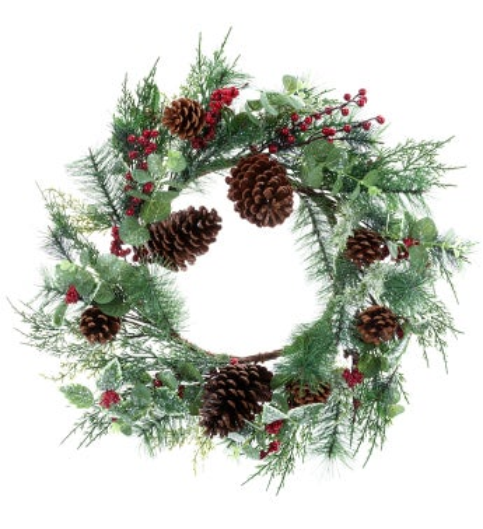 Snowy Euc/Berry Wreath