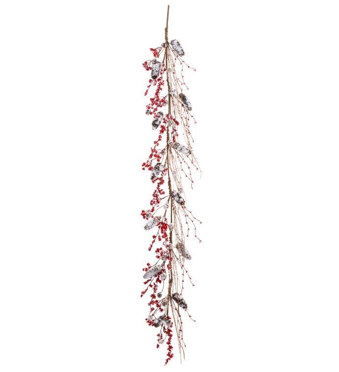 Snowy Berry/Pine Cone Garland