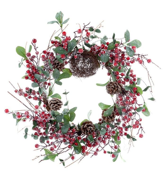 Iced Eucalyptus Berry Wreath