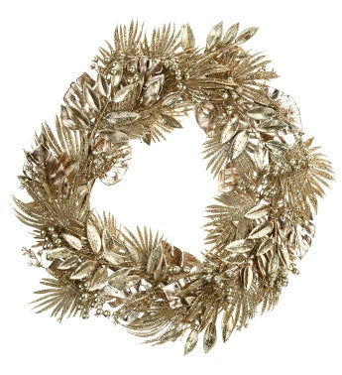 Gold Mixed Foliage Wreath