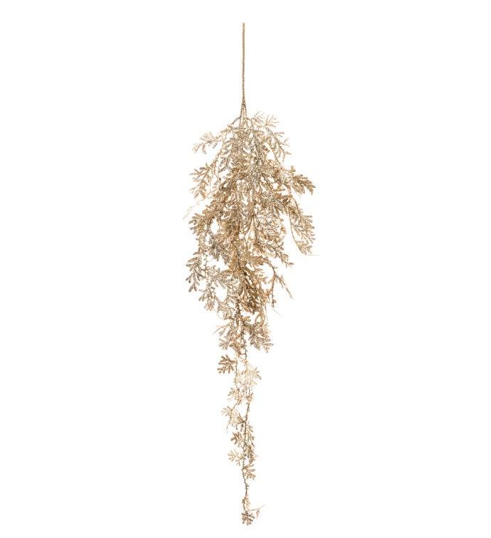 Gold Glitter Hanging Bush