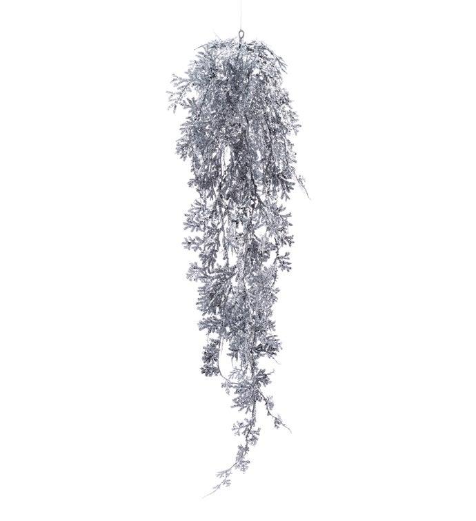 Silver Glitter Pine Ornament