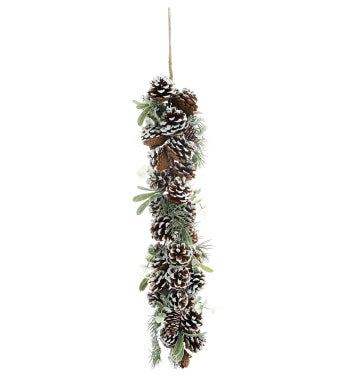 Frosted Pine/Cone Garland