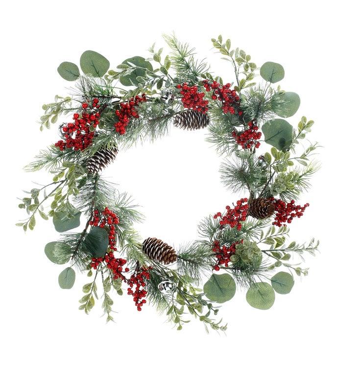 Berry / Cone Pine Wreath