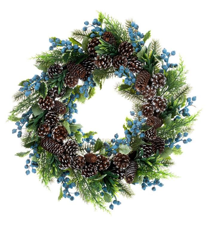 Mixed Fir/Blue Berry Wreath