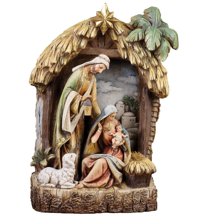 Holy Family in Creche