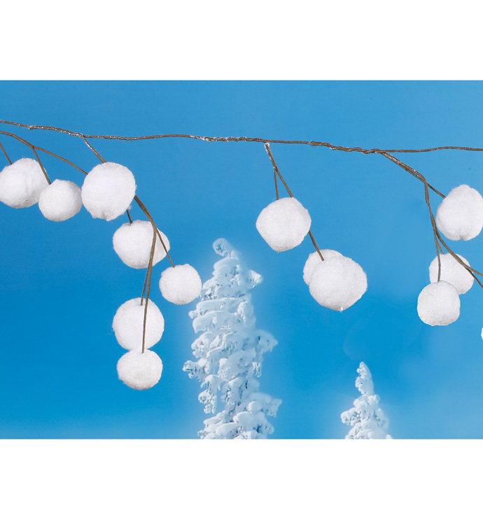 Snow Ball Garland