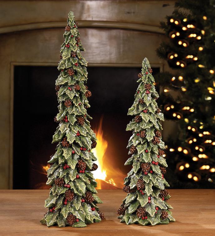 Holly Tree Set of 2