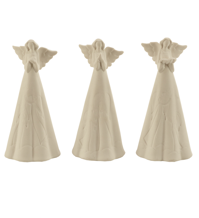 Small Angel with Light, 3 Assorted
