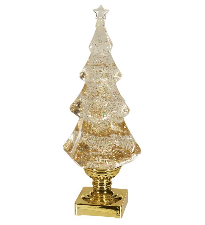 Gold LED Christmas Table Tree