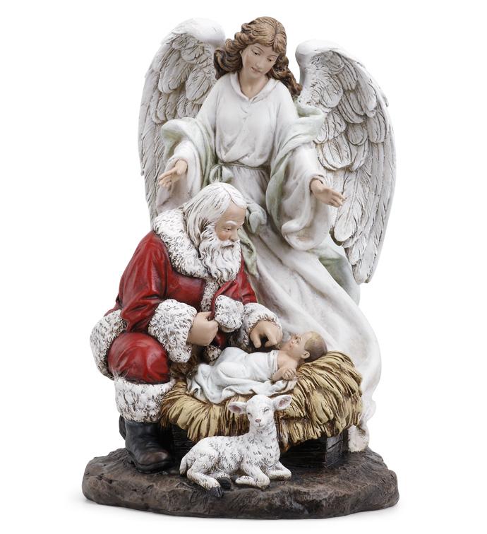 Santa and Angel Nativity