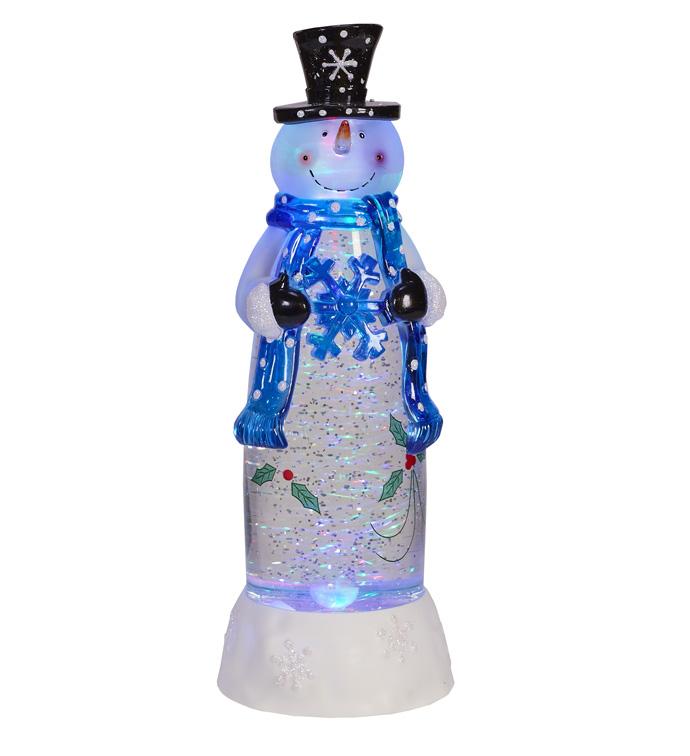 LED Holly Snowman