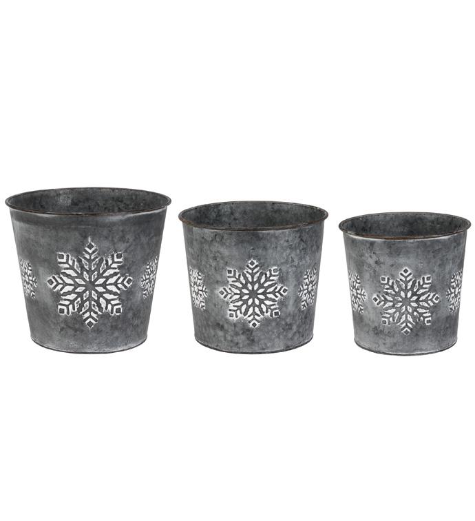 Set of 3 Snowflake Tree Covers