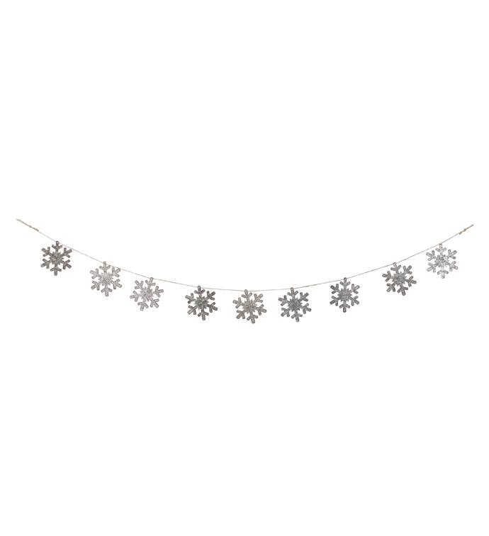 Galvinized Snowflake Garland