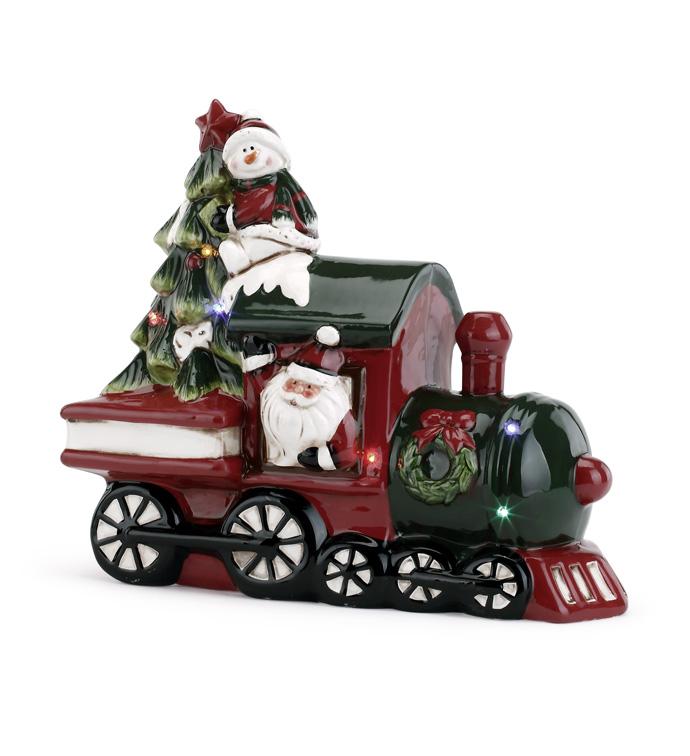 LED Santa/Snowman Train With Music