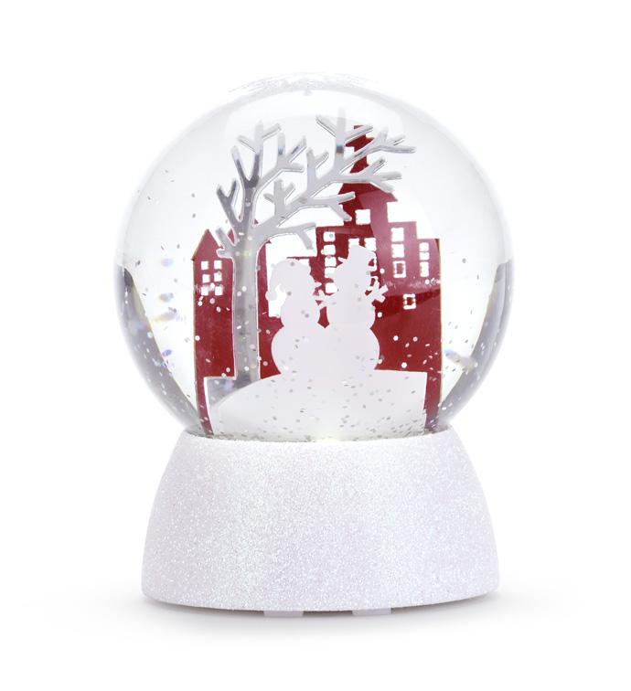 LED Snowman Water Globe