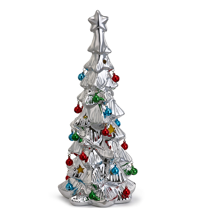 LED Electroplated Silver Tree