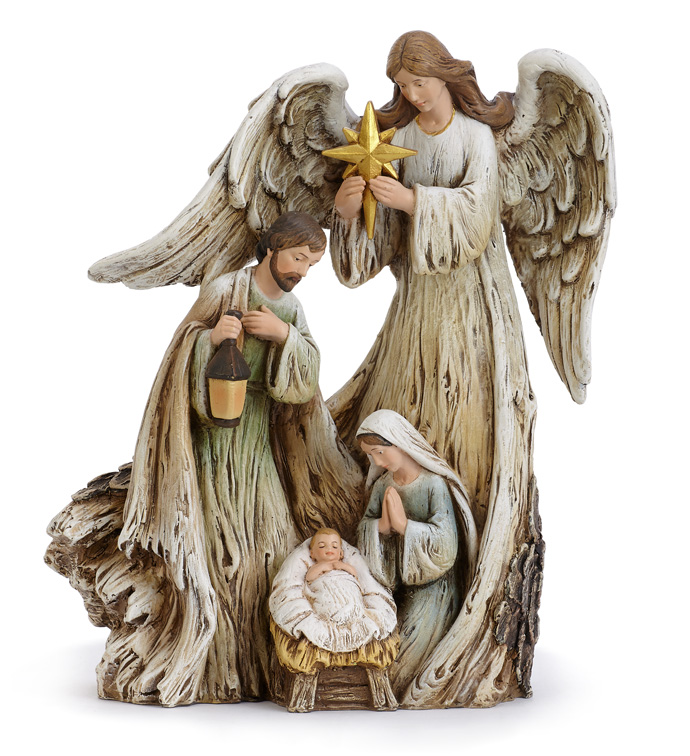 Angel with Holy Family