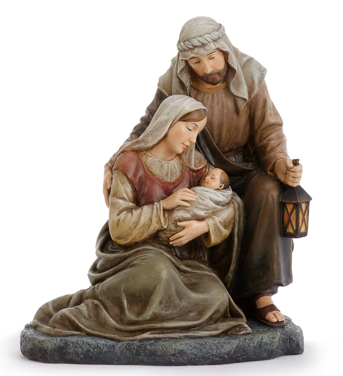 Kneeling Holy family
