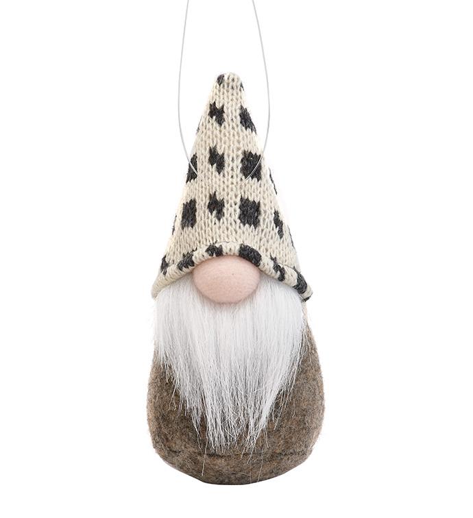 Stuffed Gnome Santa Ornament
