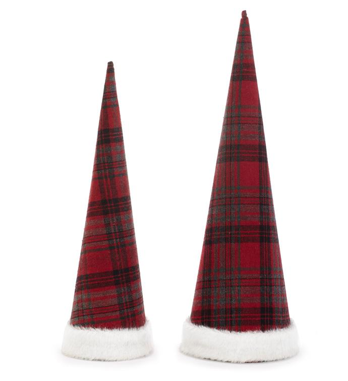 Set of 2, Plaid Cone Topper