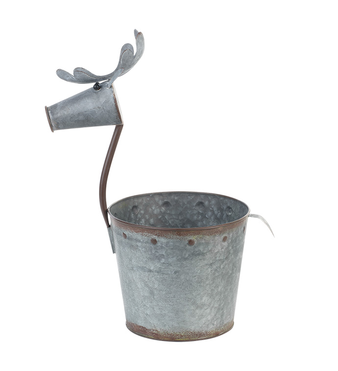 "6.5"" Galvanized Deer Pot Cover"