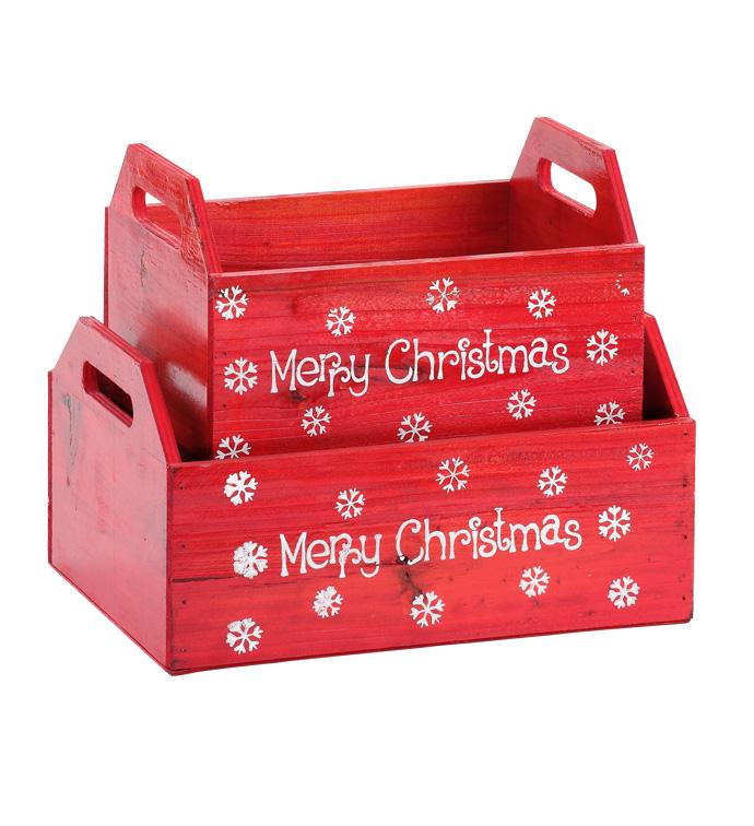 Merry Christmas Box, Set of 2